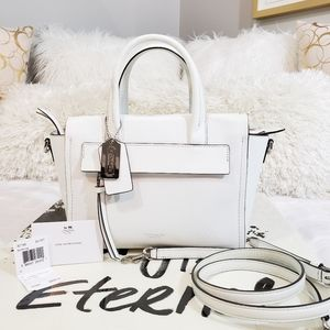 COACH Mini Riley White Saffiano Leather Bag